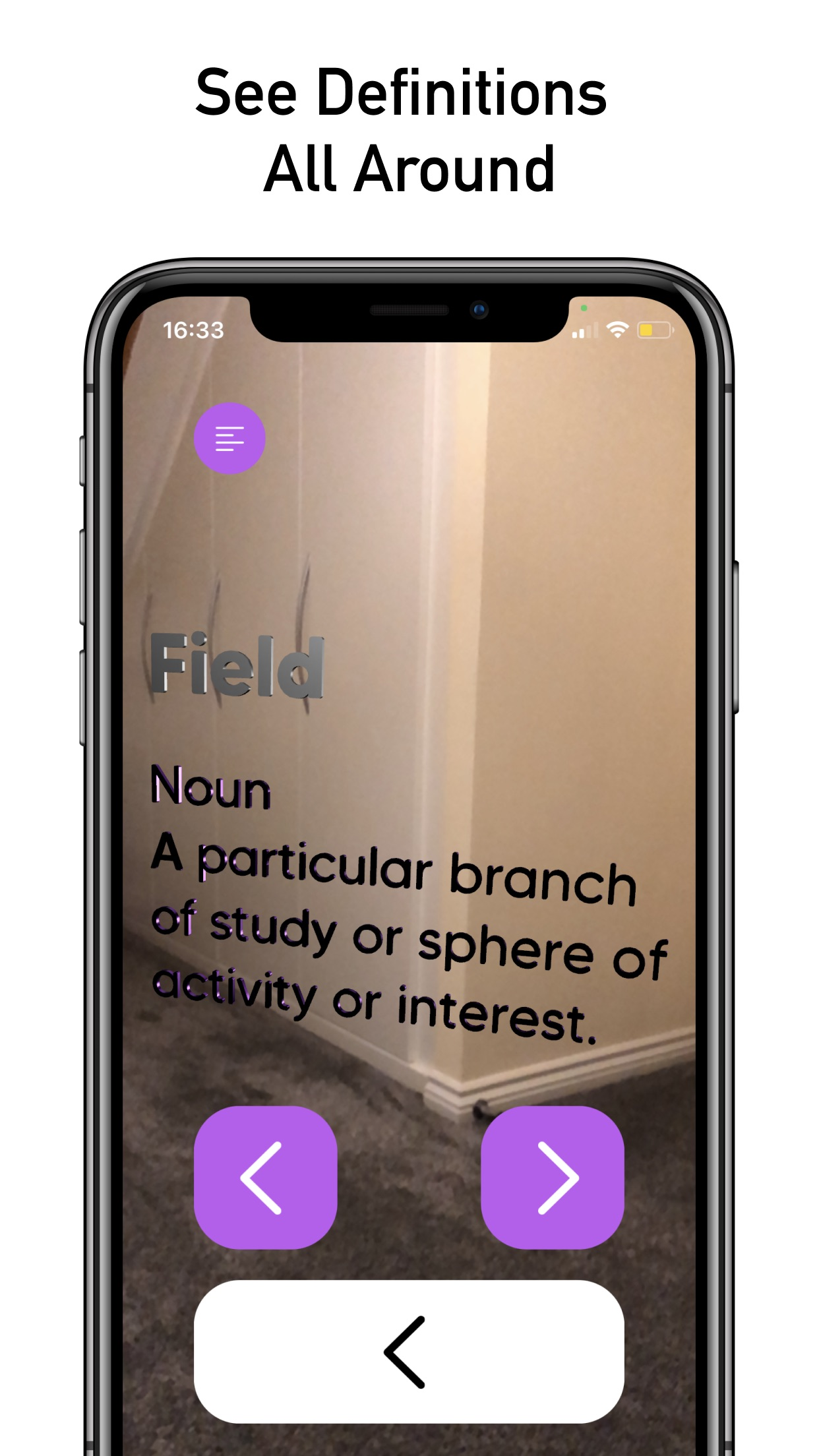 DictionARy - Definitions in AR