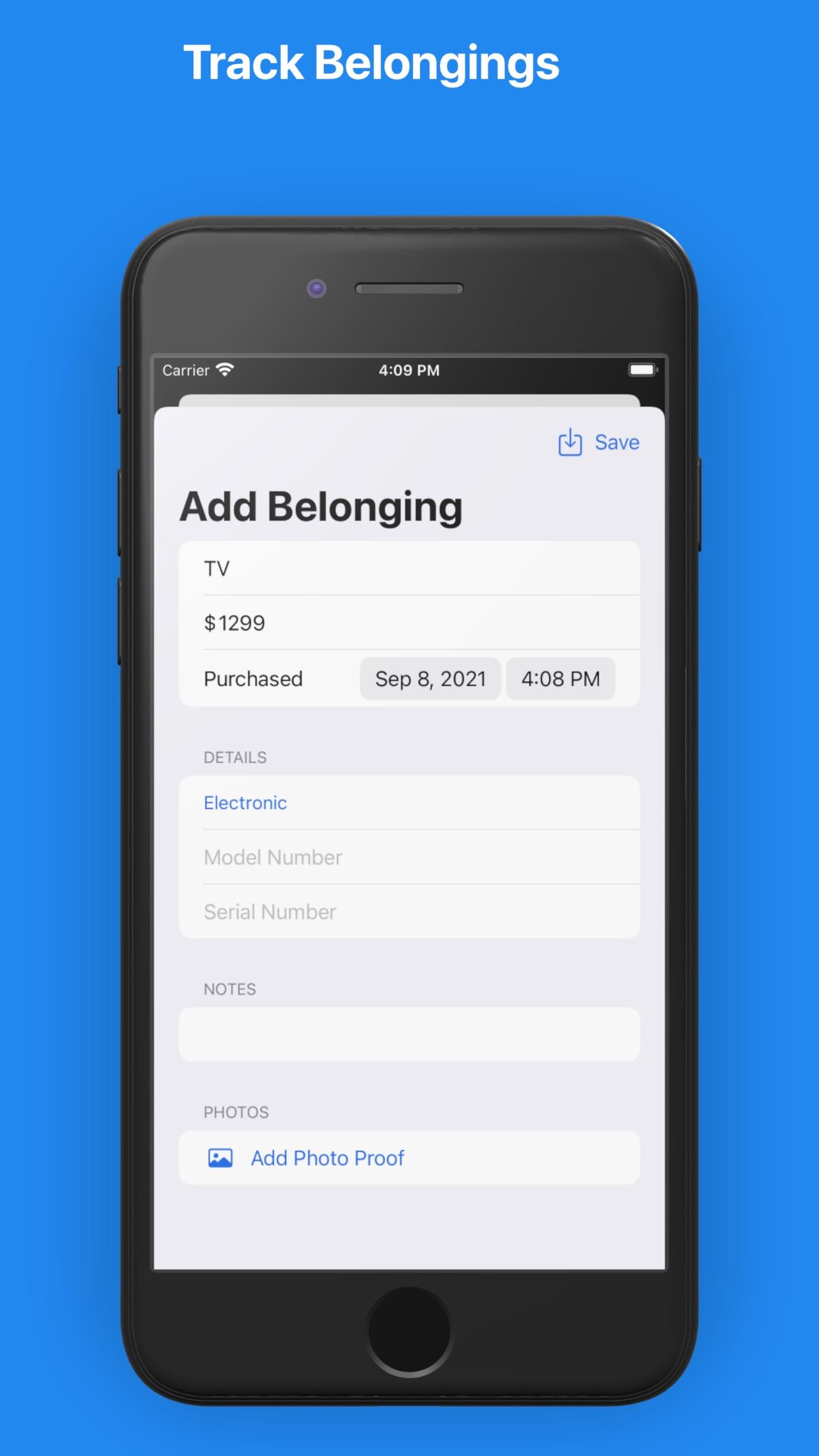 Belongings - Home Inventory